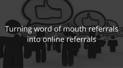 getting online referrals